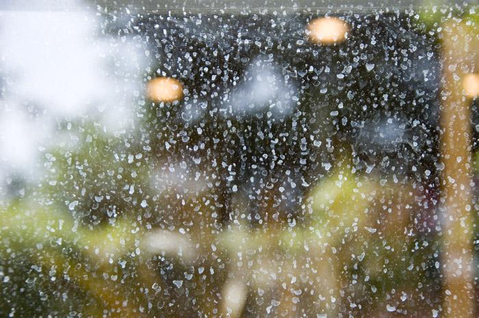 Water Spots On Glass
